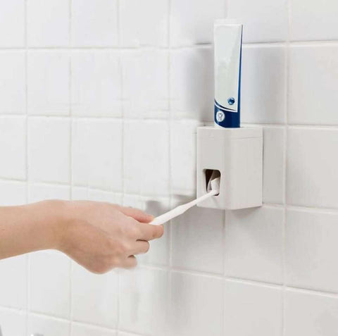 Automatic Toothpaste Dispenser Wall Mounted Holder Squeezer Bathroom Accessories price in Nepal