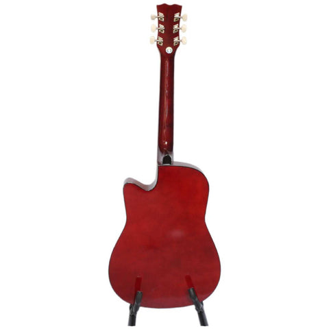38-Inches Cutaway Acoustic Guitar With Bag & 2 Picks For Beginners