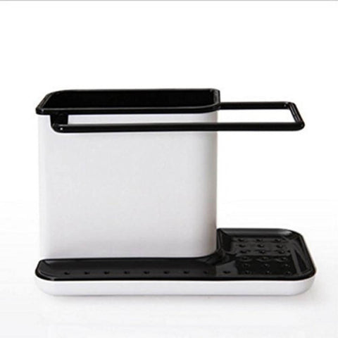 3 In 1 Plastic Sink Organizer Kitchen Soap/Sponge/Cloth And Brush Holder Accessories