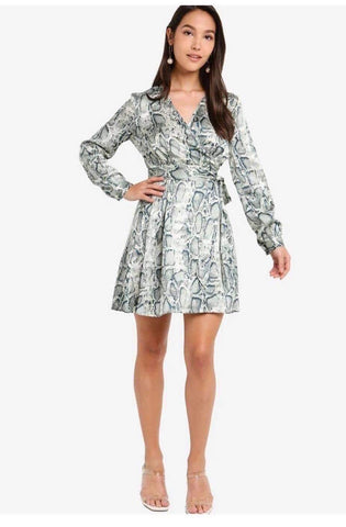 Zalora Overlap Fit & Flare Dress