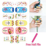 Colorful Butterfly Chess Design Nail Art Sticker Self Adhesive price in Nepal