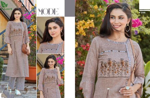 Dream Line Linen Square Western Top with Embroidery Work bottom #2506 price in nepal
