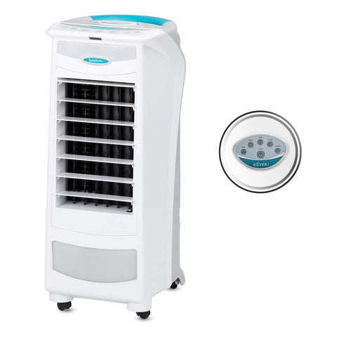 Symphony Silver-i Personal & Kitchen Air Cooler 9-litres, with Remote, Feather Touch Digital Control Panel, Electronic Humidity Control, Multistage Air Purification & Low Power Consumption (White) price in Nepal