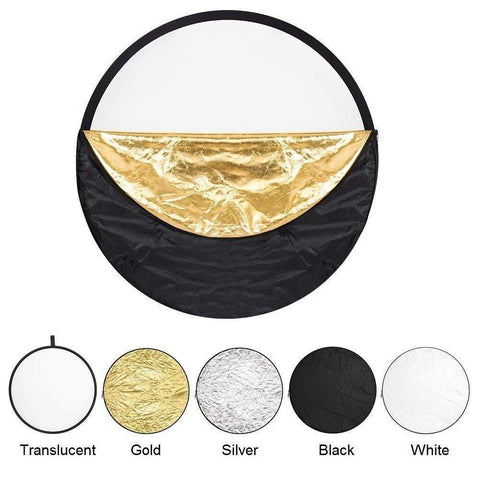 35000021 110cm 5 in 1 Portable Photography Studio Multi Photo Disc Collapsible Light Reflector