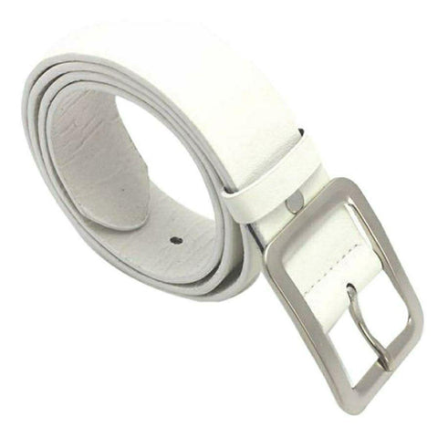Solid White Faux Leather Belt By Arushi Price in Nepal