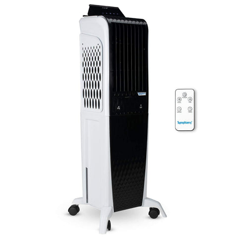 Symphony Diet 3D 40i Tower Air Cooler 40-litres with Magnetic Remote, 3-Side Cooling Pads, Pop-up Touchscreen, Multistage Air Purification & Low Power Consumption (Black & White) price in Nepal