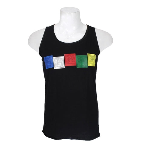 Tibetan Prayer Flag Printed Tank Top For Men