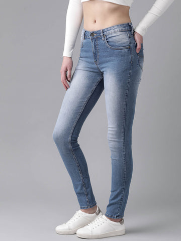RS Women Blue Regular Fit Mid-Rise Clean Look Stretchable Jeans price in nepal