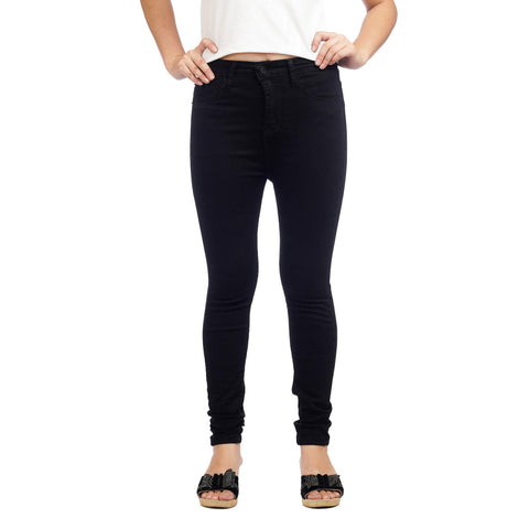 Women's High Waist Skinny Fit Black Denim Pants by Attire Nepal price in nepal