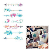 Multiple Colour Waterproof Temporary Tattoo Sticker