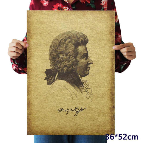 Musician Mozart Portrait Field Reaper Decal Home Decor Posters price in Nepal