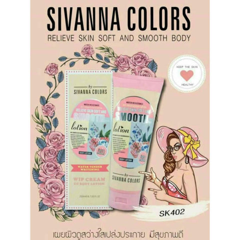 Sivanna Relieve Skin Soft And Smooth Body Lotion, Wip Cream Cc Body Lotion, Light And Moisten, Sivanna Colours, 250Ml / By Shophill