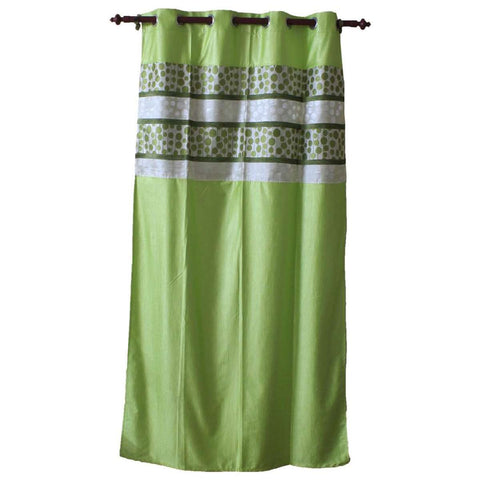 Abstract Pattern Cotton Fabric Window/Door Curtain - (Pink/Light Green) price in nepal