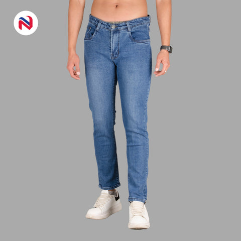 Nyptra Dark Blue Stretchable Premium Jeans For Men price in nepal