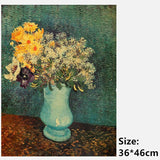 Van Gogh Vase With Lilacs Daisies And Anemone Poster Print Wall Stickers