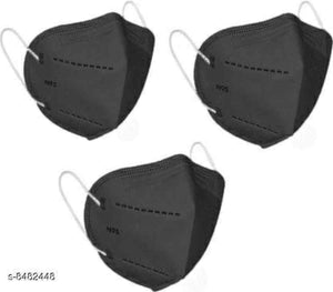 Black KN95/ N95 Mask - Pack of 3