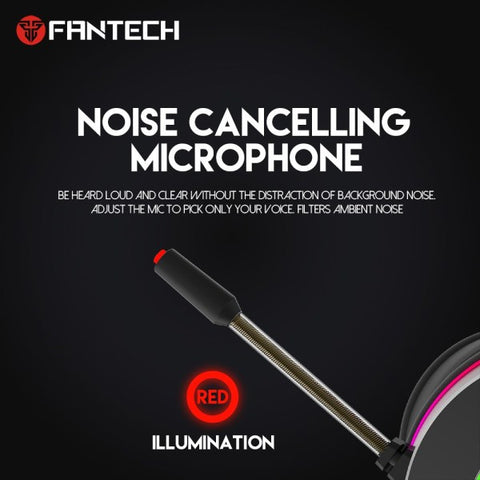 FANTECH HG23 Headphone Personalize With Octane 7.1 RGB USB Just Wired Gaming Headset Alloy Earmuffs For PC PS4 Gaming Headphones