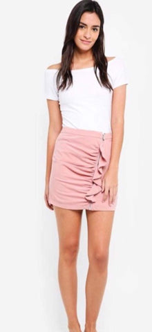 Zip Front Skirt With Ruffles price in nepal
