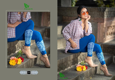 Women Printed Leggings ( BLUE ) price in nepal