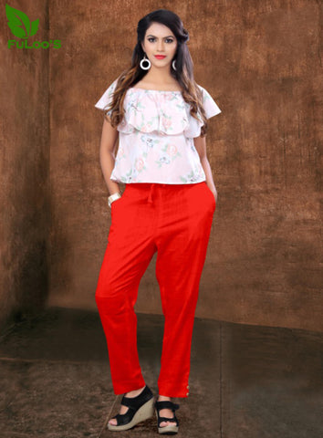 Women Pencil Pant in Cotton slub # 1001 price in nepal