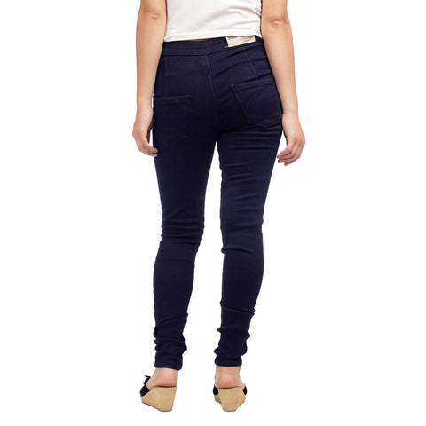 Women's High Waist Dark Wash Skinny Fit Denim Pants by Attire Nepal