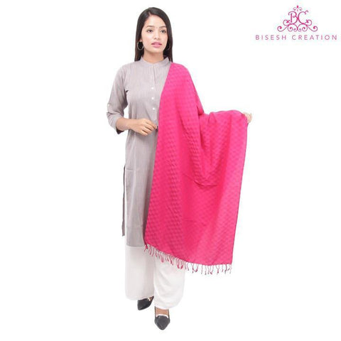 Bisesh Creation Checkered Designed Tassel End Shawl For Women price in nepal