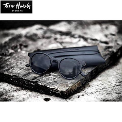 Tom Hardy Small Bp- Black Frame And With Black Lens Round Unisex Sunglasses