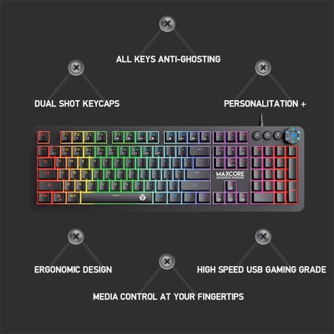 FANTECH HUNTER-PRO K511 RAINBOW BACKLIT PRO GAMING KEYBOARD WITH 12 ADVANCE MULTIMEDIA MODE  price in nepal
