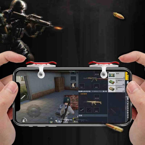2pcs E9 L1 R1 Smartphone Game Trigger Shooter Controller Fire Button Handle for Rules of Survival / Knives Out price in nepal