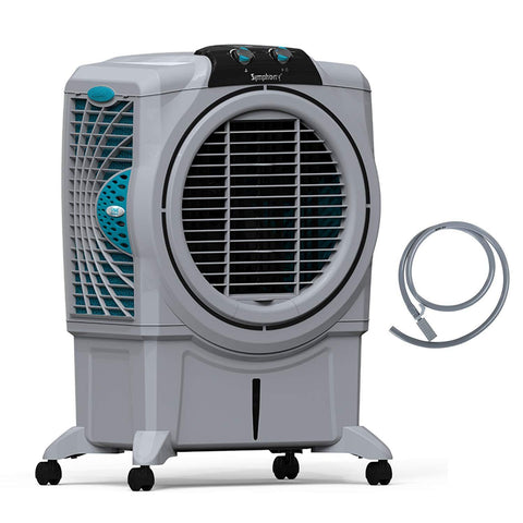 Symphony Sumo 75 XL Powerful Desert Air Cooler 75-litres, Air Fan, Easy-Fill, 3-Side Honeycomb Pads, i-Pure Console & Low Power Consumption (Grey) price in Nepal
