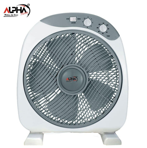 Alpha Home Box Table Type Electric Fan 12 Grey