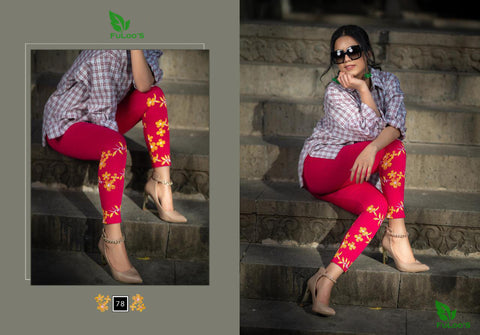 Women Printed Leggings ( DARK RED) price in nepal