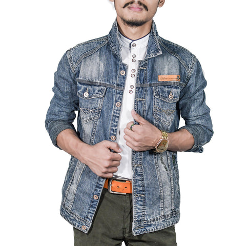 Virjeans Denim (Jeans) Non-Stretchable Jacket For Men (Vjc 682)