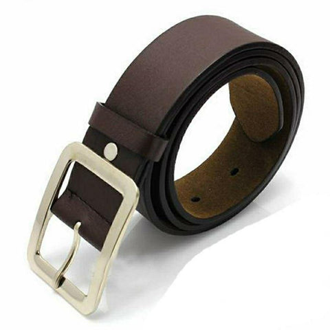 Solid Dark Brown Faux Leather Belt For Men By Arushi Price in Nepal