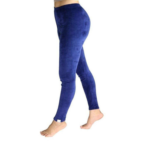 Navy Blue Soft Velvet Sweatpants