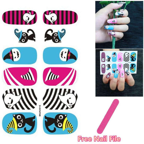 Multiple Colour Design Nail Art Sticker Self Adhesive Toe Decals