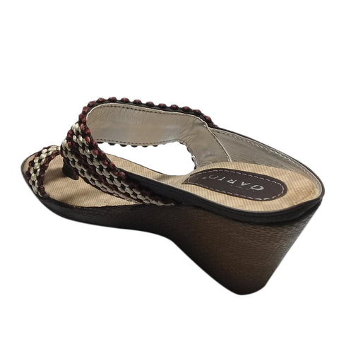 Braid Styled Wedge Heel Shoes For Women