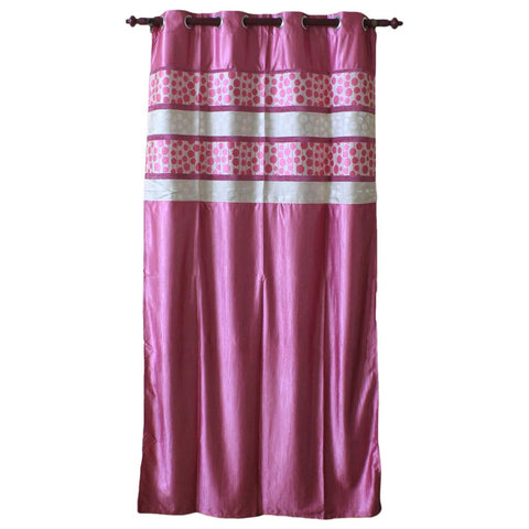 Abstract Pattern Cotton Fabric Window/Door Curtain - (Pink/Light Green)