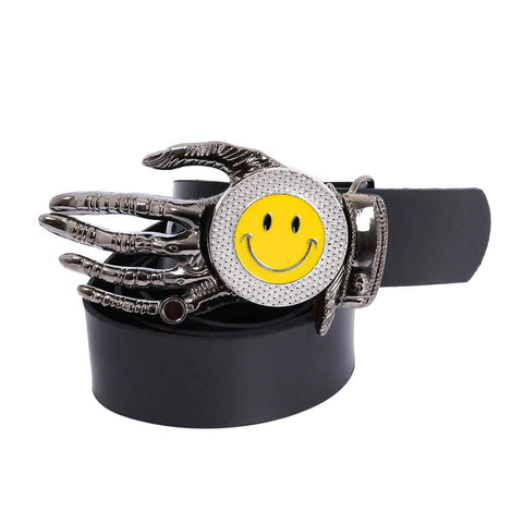 Black Smiley Design Belt For Men Price in Nepal