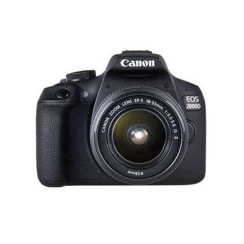 EOS 2000D 24.2MP Digital SLR Camera With EF-S18-55 IS STM (16 GB Card + Bagpack + Tripod)- Black Price in Nepal