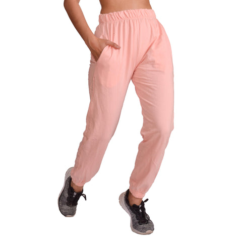 Pink Solid Joggers For Women price in nepal