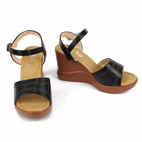 Brown Synthetic Wedge Heel Sandals For Women price in nepal