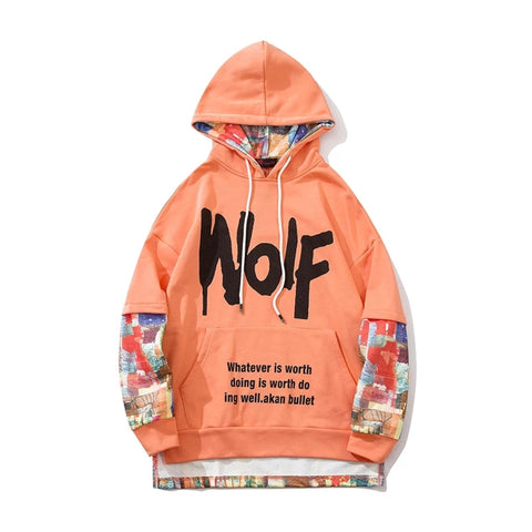WOLF Printed Oversize Hoodie For Men