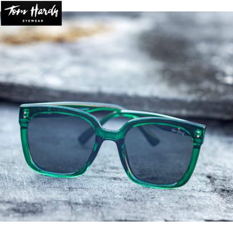 Tom Hardy Square Full Rim Frame With Black Lens Unisex Sunglasses