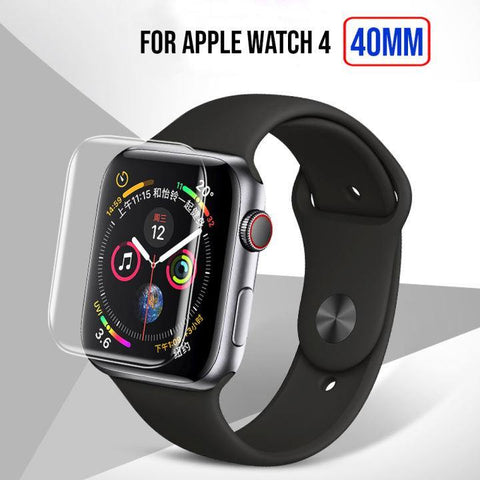Full Size Anti-Explosion Soft Tpu Screen Guard Film For Apple Watch 4 -40Mm