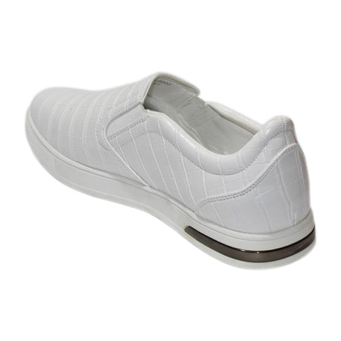 White Casual Slip On Shoes For Men