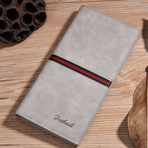 Frosted Pu Leather Long Wallet Pocket Card Clutch Id Credit Bifold Purse(41000958)