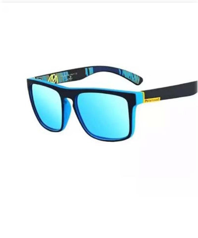 Polarized Square Design Sky Blue Mercury Trendy Sporty Looks Unisex Sunglasses With Box