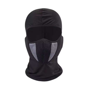 Black/Grey Air Filter Full Ninja Mask