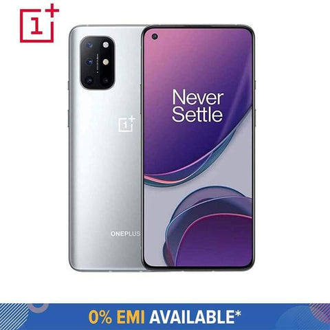 OnePlus 8T (8 GB RAM + 128 GB Storage) with 120 Hz Fluid AMOLED Display & Snapdragon 865 Processor (Lunar Silver) (Includes 1 Year Screen Brakeage Insurance)